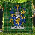 1stScotland Premium Quilt - Read Irish Family Crest Quilt - Irish National Tartan A7