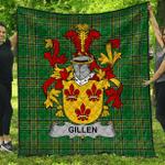 1stScotland Premium Quilt - Gillen Or O'Gillen Irish Family Crest Quilt - Irish National Tartan A7