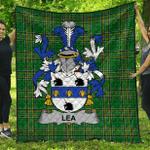 1stScotland Premium Quilt - Lea Or Mclea Irish Family Crest Quilt - Irish National Tartan A7