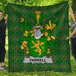 1stScotland Premium Quilt - Farrell Or O'Ferrell Irish Family Crest Quilt - Irish National Tartan A7