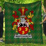 1stScotland Premium Quilt - Whitchurch Irish Family Crest Quilt - Irish National Tartan A7