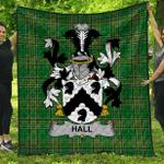 1stScotland Premium Quilt - Hall Or Machall Irish Family Crest Quilt - Irish National Tartan A7