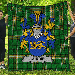 1stScotland Premium Quilt - Currie Or O'Currie Irish Family Crest Quilt - Irish National Tartan A7