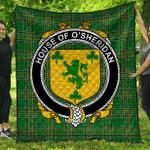 1stScotland Premium Quilt - House Of O'Sheridan Irish Family Crest Quilt - Irish National Tartan A7
