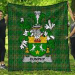 1stScotland Premium Quilt - Dunphy (Middle Temple - Burke'S) Irish Family Crest Quilt - Irish National Tartan A7