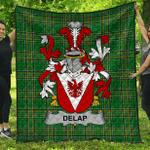 1stScotland Premium Quilt - Delap Irish Family Crest Quilt - Irish National Tartan A7