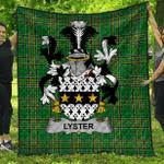 1stScotland Premium Quilt - Lyster Irish Family Crest Quilt - Irish National Tartan A7