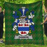 1stScotland Premium Quilt - Gannon Or Mcgannon Irish Family Crest Quilt - Irish National Tartan A7