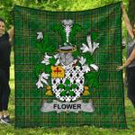 1stScotland Premium Quilt - Flower Irish Family Crest Quilt - Irish National Tartan A7