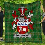 1stScotland Premium Quilt - Halloran Or O'Halloran Irish Family Crest Quilt - Irish National Tartan A7