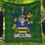 1stScotland Premium Quilt - Holte Or Holt Irish Family Crest Quilt - Irish National Tartan A7