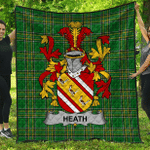 1stScotland Premium Quilt - Heath Irish Family Crest Quilt - Irish National Tartan A7