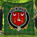 1stScotland Premium Quilt - House Of O'Quin (Thomond) Irish Family Crest Quilt - Irish National Tartan A7