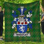 1stScotland Premium Quilt - Wheatley Irish Family Crest Quilt - Irish National Tartan A7