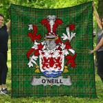1stScotland Premium Quilt - O'Neill Irish Family Crest Quilt - Irish National Tartan A7
