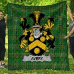 1stScotland Premium Quilt - Avery Irish Family Crest Quilt - Irish National Tartan A7