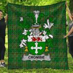 1stScotland Premium Quilt - Crombie Irish Family Crest Quilt - Irish National Tartan A7