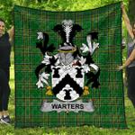 1stScotland Premium Quilt - Warters Irish Family Crest Quilt - Irish National Tartan A7