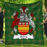 1stScotland Premium Quilt - Berry Irish Family Crest Quilt - Irish National Tartan A7
