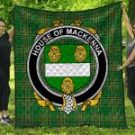 1stScotland Premium Quilt - House Of Mackenna Irish Family Crest Quilt - Irish National Tartan A7