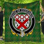 1stScotland Premium Quilt - House Of Fitzgibbon Irish Family Crest Quilt - Irish National Tartan A7