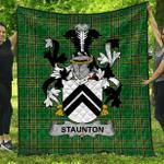 1stScotland Premium Quilt - Staunton Irish Family Crest Quilt - Irish National Tartan A7