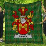 1stScotland Premium Quilt - Rainey Irish Family Crest Quilt - Irish National Tartan A7
