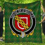 1stScotland Premium Quilt - House Of O'Quigley Irish Family Crest Quilt - Irish National Tartan A7