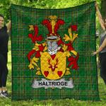 1stScotland Premium Quilt - Haltridge Irish Family Crest Quilt - Irish National Tartan A7