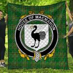 1stScotland Premium Quilt - House Of Macmahon (Oriel) Irish Family Crest Quilt - Irish National Tartan A7