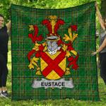 1stScotland Premium Quilt - Eustace Irish Family Crest Quilt - Irish National Tartan A7