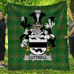 1stScotland Premium Quilt - Luttrell Irish Family Crest Quilt - Irish National Tartan A7