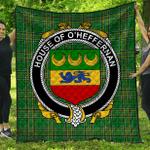 1stScotland Premium Quilt - House Of O'Heffernan Irish Family Crest Quilt - Irish National Tartan A7