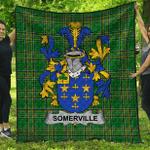 1stScotland Premium Quilt - Somerville Irish Family Crest Quilt - Irish National Tartan A7