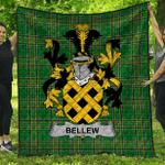 1stScotland Premium Quilt - Bellew Irish Family Crest Quilt - Irish National Tartan A7