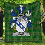 1stScotland Premium Quilt - Lowe Irish Family Crest Quilt - Irish National Tartan A7