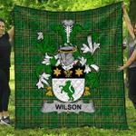 1stScotland Premium Quilt - Wilson Irish Family Crest Quilt - Irish National Tartan A7