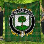 1stScotland Premium Quilt - House Of O'Connor (Faly) Irish Family Crest Quilt - Irish National Tartan A7