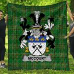 1stScotland Premium Quilt - Mccourt Irish Family Crest Quilt - Irish National Tartan A7