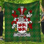 1stScotland Premium Quilt - Clancy Or Mcclancy Irish Family Crest Quilt - Irish National Tartan A7