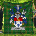 1stScotland Premium Quilt - Gara Or O'Gara Irish Family Crest Quilt - Irish National Tartan A7