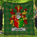 1stScotland Premium Quilt - Gaynor Or Mcgaynor Irish Family Crest Quilt - Irish National Tartan A7