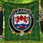 1stScotland Premium Quilt - House Of O'Donnelly Irish Family Crest Quilt - Irish National Tartan A7