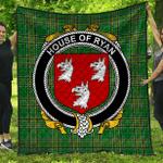 1stScotland Premium Quilt - House Of Ryan (O'Mulrian) Irish Family Crest Quilt - Irish National Tartan A7