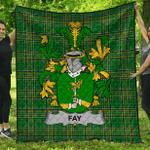 1stScotland Premium Quilt - Fay Or O'Fee Irish Family Crest Quilt - Irish National Tartan A7