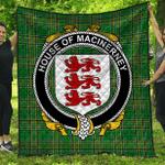 1stScotland Premium Quilt - House Of Macinerney Irish Family Crest Quilt - Irish National Tartan A7