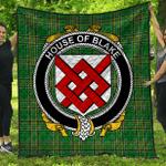 1stScotland Premium Quilt - House Of Blake Irish Family Crest Quilt - Irish National Tartan A7