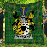 1stScotland Premium Quilt - Brownlow Irish Family Crest Quilt - Irish National Tartan A7