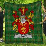 1stScotland Premium Quilt - Leahy Or O'Lahy Irish Family Crest Quilt - Irish National Tartan A7