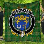 1stScotland Premium Quilt - House Of O'Fogarty Irish Family Crest Quilt - Irish National Tartan A7